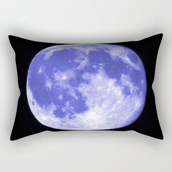Blue Moon looks like Earth Rectangular Pillow