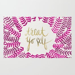Treat Yo Self – Pink & Gold Rug