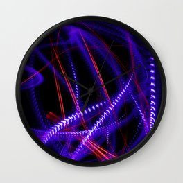 Abstract blue and red light effect Wall Clock