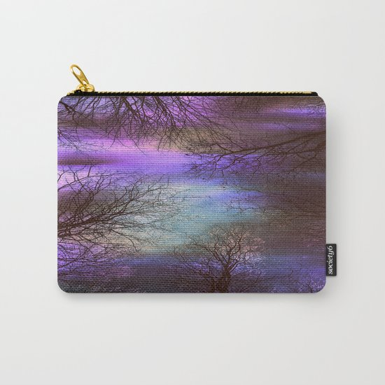 midnight trees purple green teal Carry-All Pouch