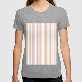 Pink Stripes & Yellow T-shirt