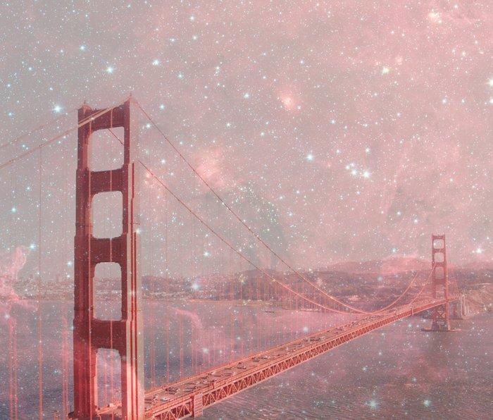 Stardust Covering San Francisco Metal Travel Mug