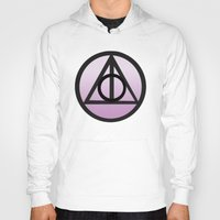 deathly hallows Hoodies featuring Deathly Hallows by AriesNamarie