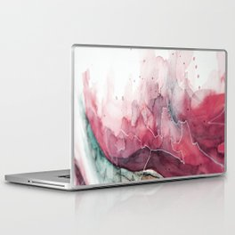 Watercolor pink & green, abstract texture Laptop & iPad Skin