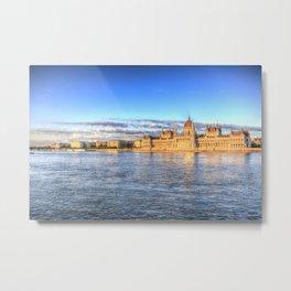 Budapest River Danube Sunset Metal Print