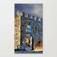 medieval Canvas Prints featuring Medieval Gate by Miguel A. Martin