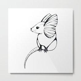 Flutter Mouse Metal Print