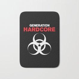 Generation Hardcore Music Quote Bath Mat