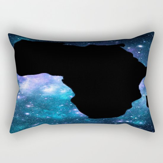 Africa : Teal Blue Violet Galaxy Rectangular Pillow