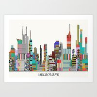 melbourne Art Prints featuring Melbourne by bri.buckley
