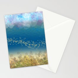 Abstract Seascape 02 wc Stationery Cards
