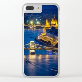 Budapest Night City Clear iPhone Case