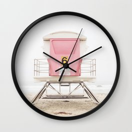 Pink Tower 6 Wall Clock