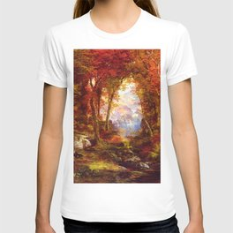 Under The Trees 1865 By Thomas Moran | Natural Wildlife Scenery Reproduction T-shirt