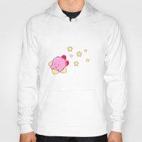 kirby Hoodies featuring Kirby  by zamii070