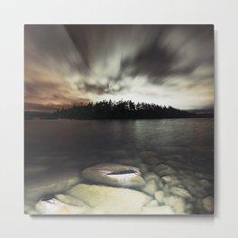 Light Polluted Lake Metal Print