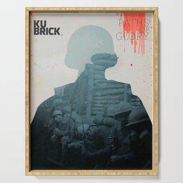 Paths of Glory, Stanley Kubrick, movie poster, Kirk Douglas, Orizzonti di Gloria, WWI war movie Serving Tray