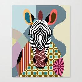 Spectrum Zebra Canvas Print