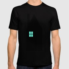 The House With The Turquoise Light On No.1 Black Mens Fitted Tee MEDIUM