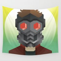 star lord Wall Tapestries featuring Guardians of the Galaxy - Star-Lord by Casa del Kables