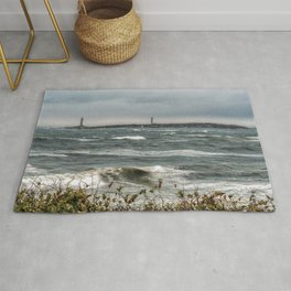 White caps with Thacher island Rug