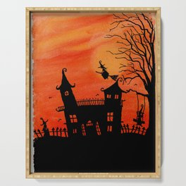 Haunted House Witch Play Serving Tray