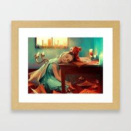 When she was six Framed Art Print