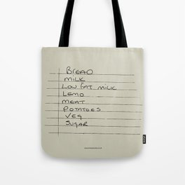 Shopping list Tote Bag