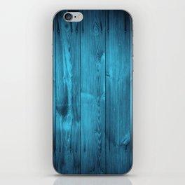 Blue Wood Planks iPhone Skin