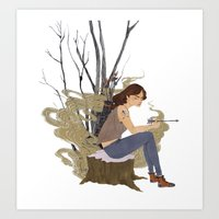allison argent Art Prints featuring Allison Argent, Winter by amanda herzman