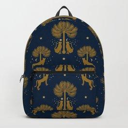 Magical Night / Cheetahs, Palm trees, Moon, Stars Backpack