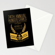 74th annual hunger games poster Stationery Cards