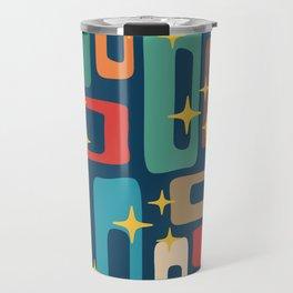 Retro Mid Century Modern Abstract Pattern 221 Travel Mug
