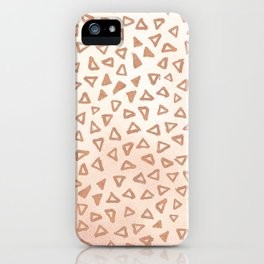 Rose Gold Triangles iPhone Case