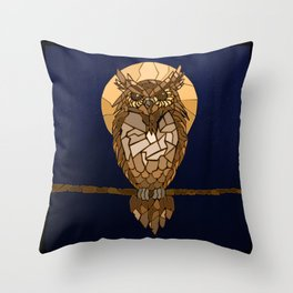 Mosaic Owl Throw Pillow