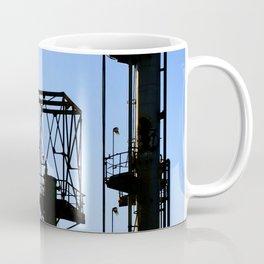 Silhouette Oil Refinery In Ventura Coffee Mug