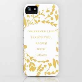 Yellow 'Bloom With Grace' Flowers iPhone Case