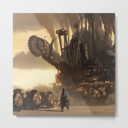 Steampunk Abstract Painting Metal Print