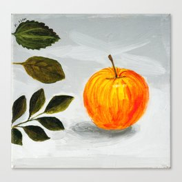 Apple and Leaves Canvas Print