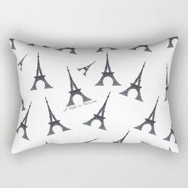 Bonjour Eiffel Tower in Paris Rectangular Pillow