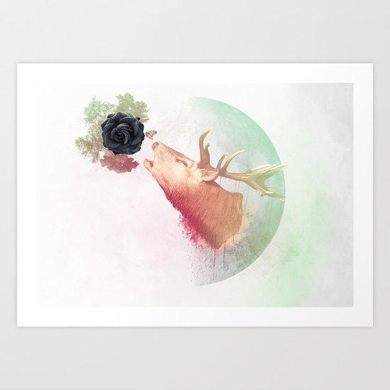 Deer Howling for NATURE!  Art Print