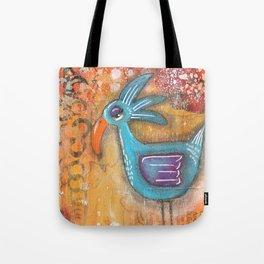 Sleepy Eyed Bird #7 Tote Bag