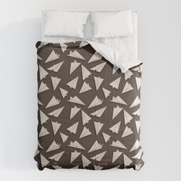 Paper Planes Pattern | White Brown Comforters