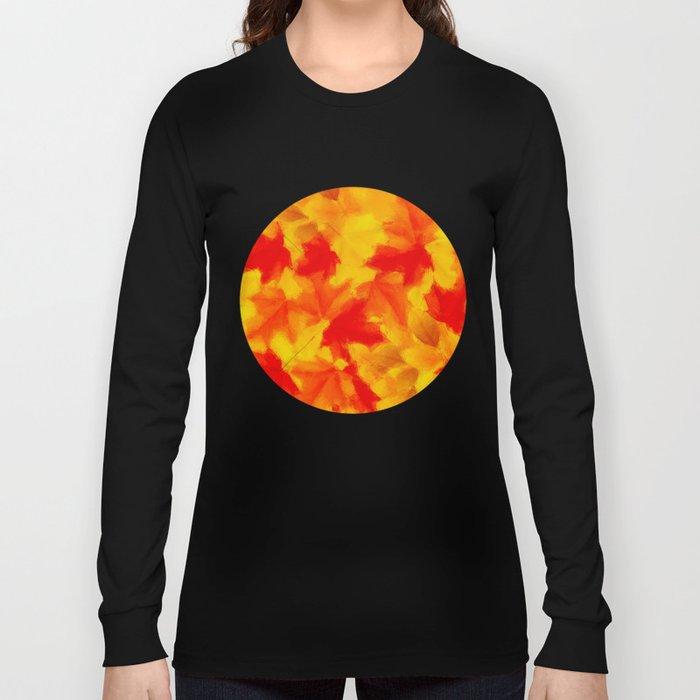 Autumn leaf abstract Long Sleeve T-shirt