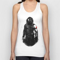 bucky barnes Tank Tops featuring Who the hell is Bucky? by charlotvanh