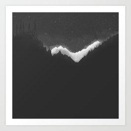 Ice Peaks Art Print
