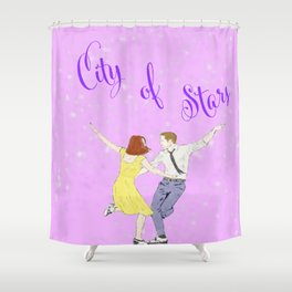La La Land - Watercolor Shower Curtain