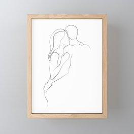 Lovers - Minimal Line Drawing Art Print3 Framed Mini Art Print