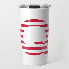 Qanon American Red Patriotic Stripes USA Great Awakening Q Travel Mug