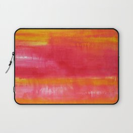 'Summer Day'  Orange Red Yellow Abstract Art Laptop Sleeve